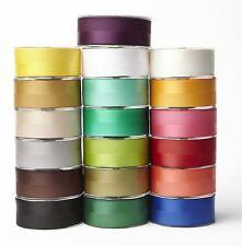 Doble Banda satén bruto grano Regalo wrap cinta de cinta de seda Decoración Artesanía 1.5 Pulgadas Ancho