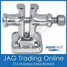 AQUATRACK 316 STAINLESS STEEL SPLIT BOLLARD & CAPTIVE LOCKING PIN - Boat/Marine