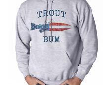 Trout Bum Fly Fishing American Flag Men's Sweatshirt Hooded Shirt Hoodie Gift