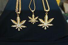 Cannabis Marijuana Hemp Leaf Necklace