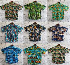Men's Hawaiian Shirt 100% Cotton Summer Floral Beach Vintage Short Sleeve S-XXL