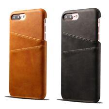 Echt Leder Hülle Etui für iPhone 6 7 8 Plus X XS XR XS Max braun, schwarz