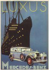 Anni 1920 MERCEDES BENZ Pubblicità Poster A3/A2 Print