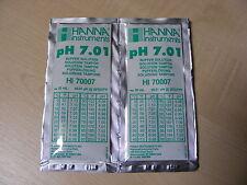 2 x Hanna pH metro del buffer di soluzione di taratura sacchetti HI 70007 7.01 ph