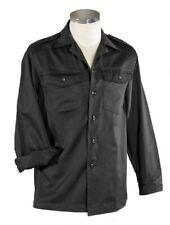 Hemd  US-Style langarm schwarz 2 Brusttaschen langärmelig Freizeithemd Security