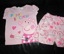 Girls  Peppa Pig  PEPPA ROCKS!  pink/lilac pyjamas  Size 2,3,4,5 & 6   BNWT