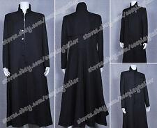 The Matrix Cosplay Neo Costume Black Trench Coat Overcoat Well Designed Hot Sale