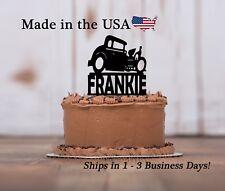 Roadster Car Cake Topper, Boys Birthday, Car Birthday Party Keepsake - LT1288