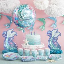 MERMAID Birthday Party Range - Tableware/Balloons/Decorations Choose Item