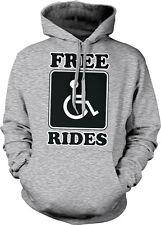 Free Rides Wheelchair Handicapped Symbol Joke Sex Go For Must Hoodie Sweatshirt