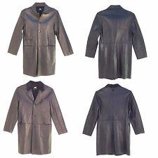 Avirex, Men Leather Long Coat, Black (See Description),Limited Edition