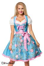 Sexy Dirndl von Dirndline Gr. 34-46 blau/pink Wiesn Oktoberfest