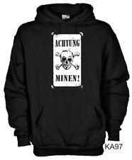 Felpa Military hoodie KA97 Achtung minen! WW2 German land mine warning sign