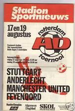 Orig.PRG  Int.Turnier 1983   ROTTERDAM/STUTTGART/MANCHESTER UTD/ANDERLECHT  !!