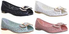 Womens Round Toe Slip On Pump Flat Sole Ballerina Pump Shoes Size