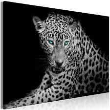 Wandbilder xxl Leopard schwarz weiß Leinwand Bilder Wohnzimmer g-B-0071-b-a