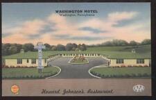 Postcard WASHINGTON,Pennsylvania/PA   Motel Motor Court view 1940's