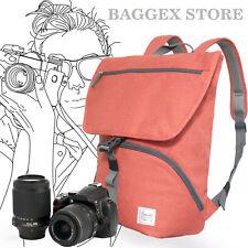 Stylish Melange Fabric Camera Backpack to carry a DSLR Camera, 1 standard lens