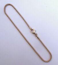 7,8,9,10,11 inch BRACELET, ANKLET Rose Gold Over Sterling Silver 1.9mm Pop-Corn