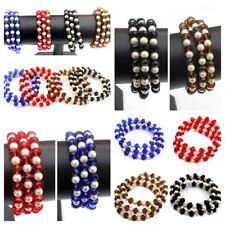 3 Metallgrau Hämatit Perlen Armband//Armbänder 20cm