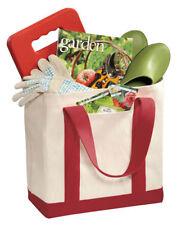 Port & Company Two Tone Exterior Pocket Web Handle Shopping Tote Bag. B400