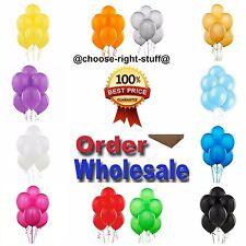 100 Large Plain Balons Ballons helium Balloons Quality Birthday Wedding Baloon