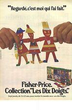 PUBLICITE ADVERTISING 1982 FISCHER-PRICE jeux jouets