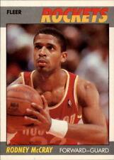 1987-88 Fleer Houston Rockets Basketball Card #72 Rodney McCray