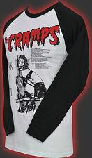 Da Uomo Baseball Manica Lunga T-shirt i crampi SPANK N Roll Garage HORROR S-2XL
