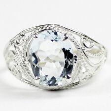 • SR083, Aquamarine, 925 Sterling Silver Ladies Ring -Handmade