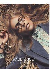 PUBLICITE ADVERTISING 2011 PAUL & JOE lunettes eyewear