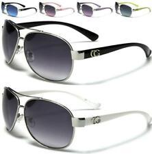 Nuevas gafas de sol negro Cg diseñador Damas Mujeres Chicas Retro Vintage Aviator Uv400