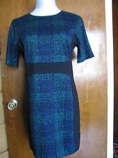 Michael Kors women's black green blue detailed dress New
