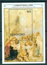 NATALE - CHRISTMAS LESOTHO 1990 block Rubens