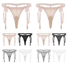 Men's Closed/Open Penis Sheath Bikini Briefs Underwear Sissy Pouch Panties Thong