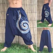 Unisex Boho Festival Hippy Hippie Yoga Baggy Harem Pants Trousers Drop crotch
