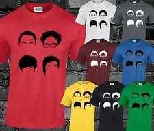 Big Bang Theory Faces Herren T Shirt Bazinga Geek Nerd Sheldon Cooper The Flash