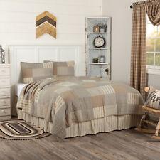 VHC Farmhouse Quilt Set Sawyer Mill Bedding Grey Chambray Cotton Patchwork