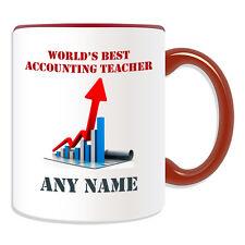 Personalised Gift World's Best Accounting Teacher Mug Money Box Finance Cup Tea