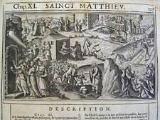 Bible illustrée NOUVEAU TESTAMENT ILLUSTRE  1621 RELIURE AUX ARMES
