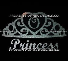 VRS Crown Royal Tiara Queen Princess Heart Love Custom INITIAL O Car Metal Decal