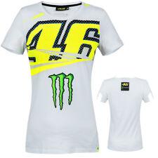 Valentino Rossi VR46 Femmes Blanc Jaune Monster Energy Monza T-shirt femme