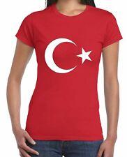 Turkish Coat Of Arms Flag Women's T-Shirt  - Football Athletics Turkey