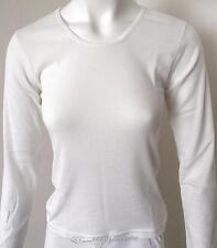 Ladies Crew Neck Merino Wool Blend Thermal Top, Beige Sz 10-22