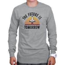 The Future Tomorrow Funny Space Astronaut Long Sleeve Tees Shirts T-Shirts