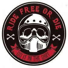 Sticker Ride Free or Die