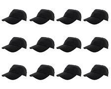 Wholesale LOT 12pcs Plain Blank Cotton Baseball Cap Hat Solid Adjustable