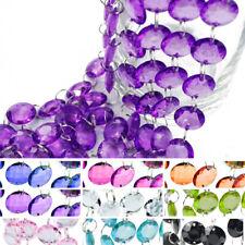 1 m Kristallgirlande Kristallkette Kristalle Diamanten Deko Acryl Kristall Kette