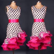 Latin Dance Dress Tango Salsa Costume Ballroom Competition Dress +Belt L21W