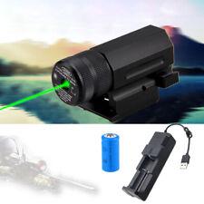 Green Dot Laser Sight w/ QD 20mm Picatinny Rail Mount for Pistol Rifle G17/19/22